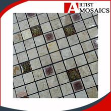 foshan factory outdoor wall polished Natural split Marble mosaic