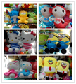 xcartoon animal toys cartoon toy hats and scarves stuffed plush christmas toy