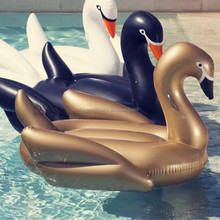 Top quality luxury classic inflatable swan 190cm eco-friendly pvc inflatable gold swan swimming pool floats