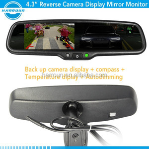 auto dimming car rearview mirror monitor with rear camera display, parking sensor for ford range 2012