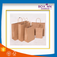 Wholesale Recycle Customized Certified Brown Kraft Paper Shopping Bag