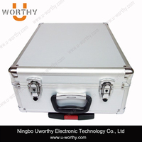 Aluminum Trolley Case, Aluminum Tool Box with Wheels, Multilayer Tool Box