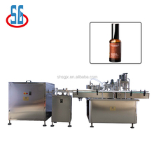 SGGX-50/500 Infusion Solution Feeding Washing Filling Plugging Capping and Labeling Production Line.50-500ml bottle filling mach