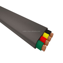 Flat Flexible Rubber Insulated and Sheathed Underwater Electrical Cable,submersible pump cable