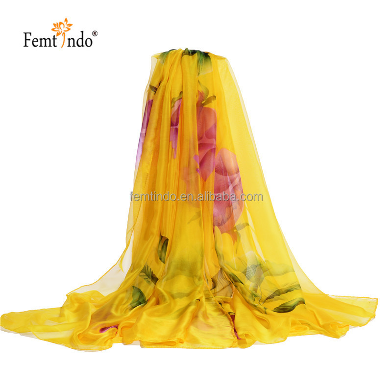 Femtindo Wholesale Silk Long Large Size Beach Towel Women Sunscreen <strong>Scarves</strong>