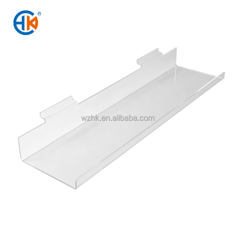 Special Offer extruded small acrylic display shelf for dvd , slatwall dvd shelf