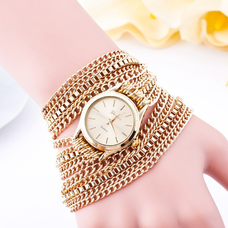 2017 Wholesale Gold High Quality Chain Watch
