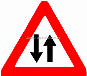 Highly reflective Two Way Road Traffic Sign