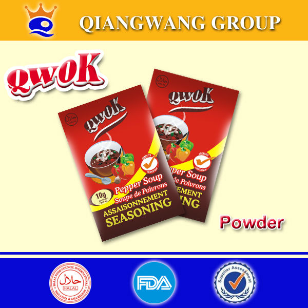 10g/bag Pepper soup flavour halal instant seasoning powder