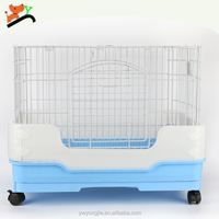 Luxury Rabbit Cage Wire Mesh Small Animal Cages For Teddy Cheap Punny Dog Cage