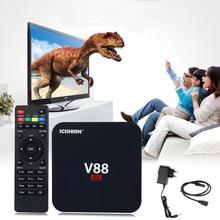 V88 Android TV Box 4K Smart Multimedia Player Internet Media Player Rockchip 3229 Quad Core EMMC 8GB Game Player