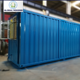 Blue shipping container home , As a suite has bathroom and kitchen luxury inner decoration , Export to Macao ,HongKong,