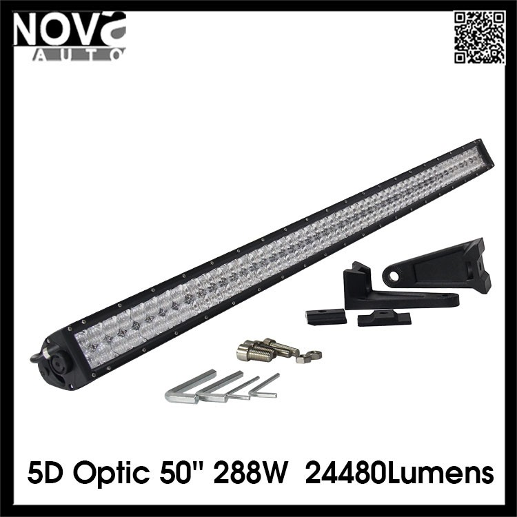 Truck Parts Roof Rack Led Light Bar 50'' 288W