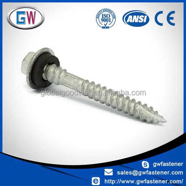 Class 4 Galvanised Type 17 Hex Head Self drilling Roofing Screws for Wood