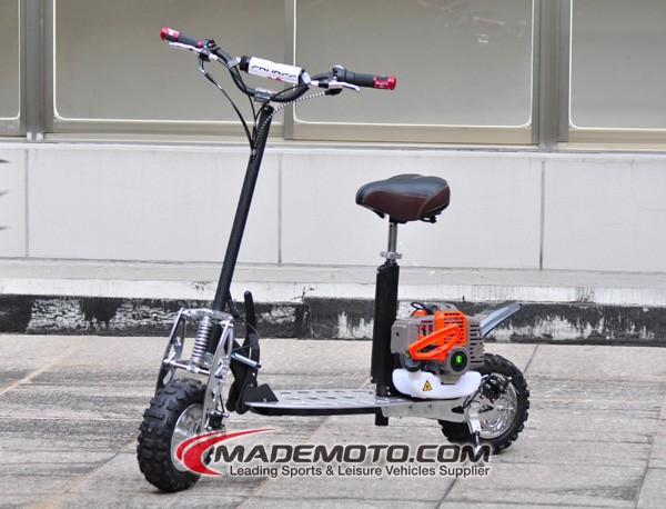 Chinese Manufacturer 2 Stroke 3 Speed Mini 49CC Gas Scooter with Cheap price