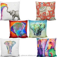 Wholesale Fashion Decorative Cotton Linen Elephant Couch Pillow Cushion Cover For Office Chair
