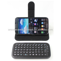 WIRELESS LEATHER BLUE TOOTH KEYBOARD FOR SAMSUNG GALAXY S4 (I9500)