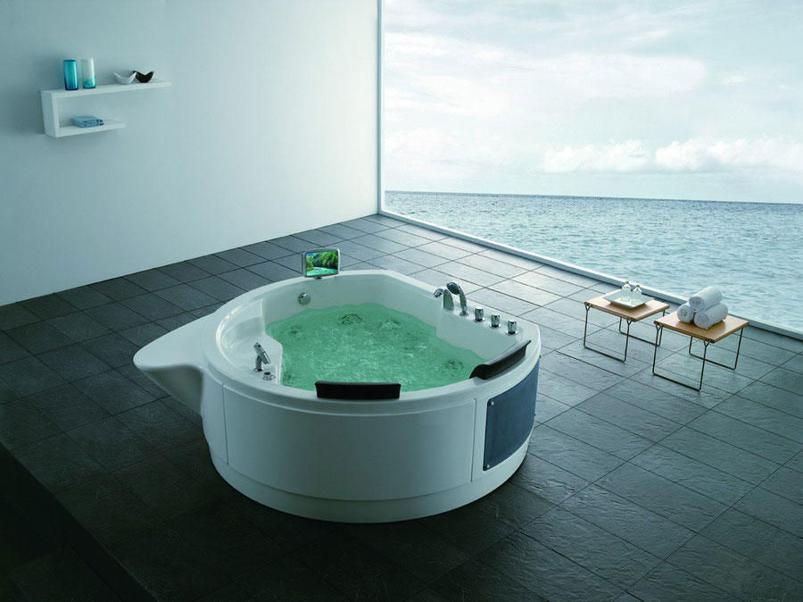 quality massage bathtub/outdoor tub Y2090862 1860X1830X740