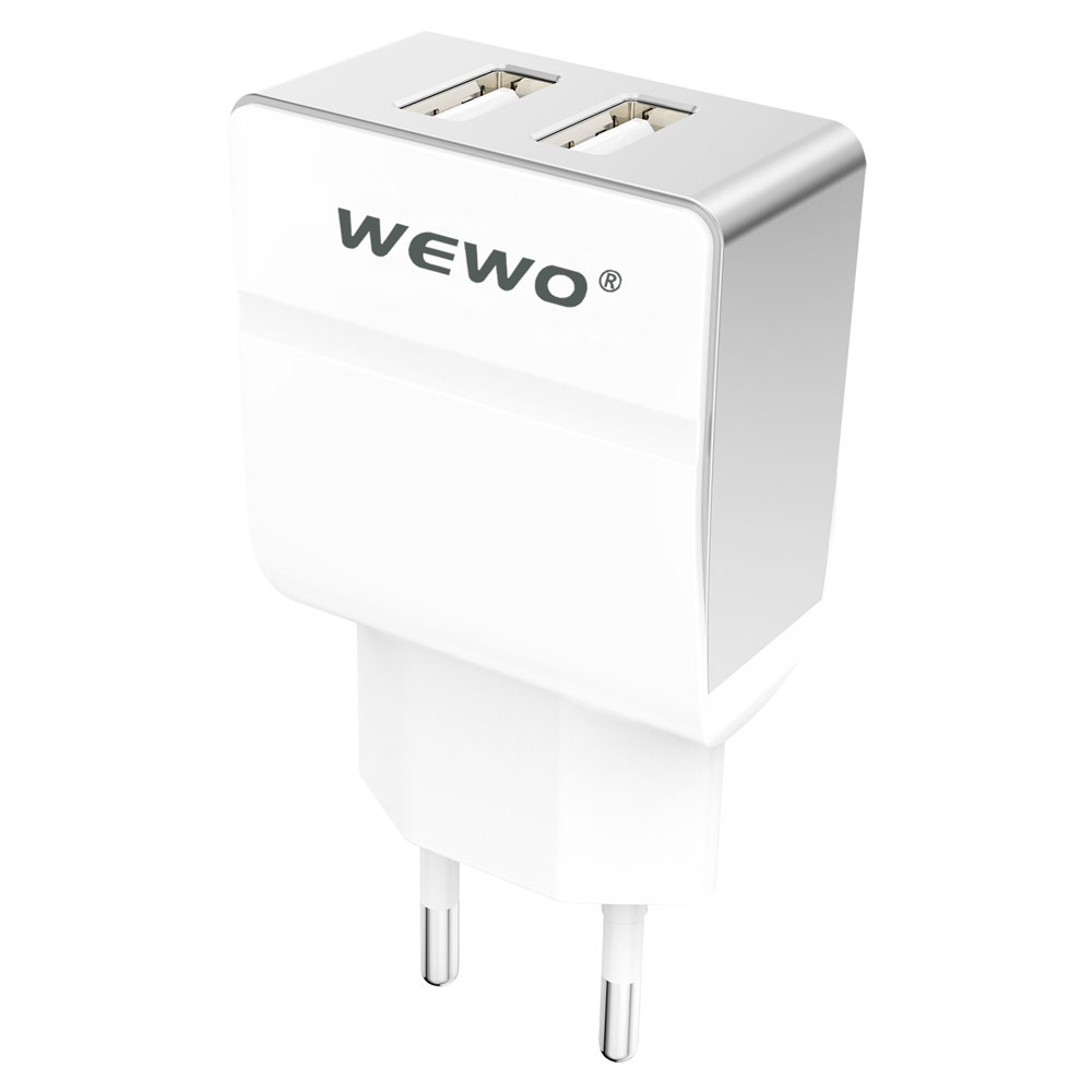 WEWO EU plug output 5V/2A 9V/1.5A 12V/1A fast charging travel charger cell phone dual usb wall charger