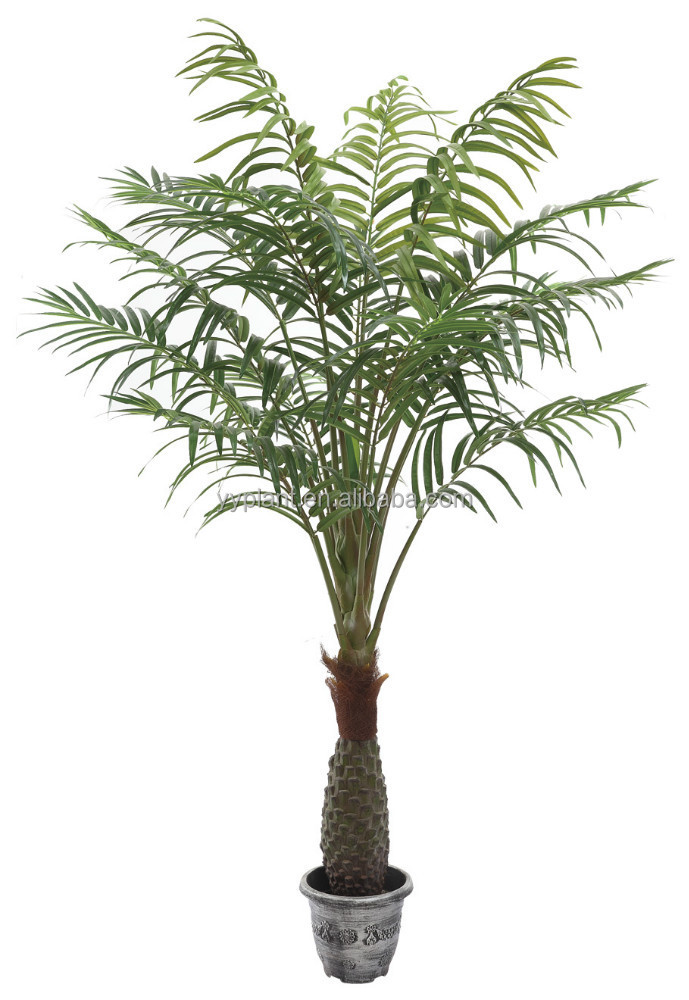15 Leaves Artificial Style and China Regional Feature Artificial Canary Date Palm Tree