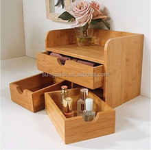 Natural Handmade Storage Bamboo Container For Home Office Multi Purpose Functionality Desktop Organizer