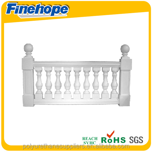 Customize Polyurethane foam OEM balustrades & handrails indoor railing baluster