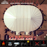 2016 New Designed Outdoor Bell End Polygonal Marquee Tent for Yuma concert Solution in USA