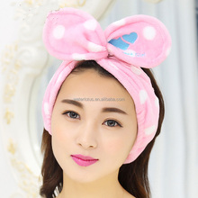 Hot selling stylish colorful microfiber sports headband makeup hairbands for women