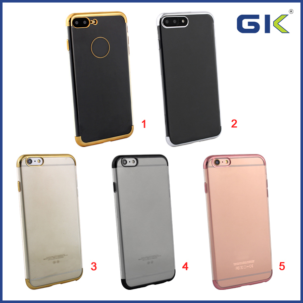 [GGIT] 3D Electroplated Laser Engraving Subsection TPU Celular Phone Case For IPhone 6 Plus Back Cover