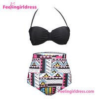 High Waist Hot Sexy Printed Girl Manufacturer Swimwear Brazilian Bikini