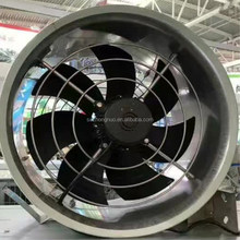 Wall mouted stainless steel duct industrial air blower axial flow ventilation fans