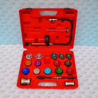 21pcs Cooling System & Radiator Pressure Tester Kit 21pcs radiator cap pressure tester Car Diagnostic Tools machine