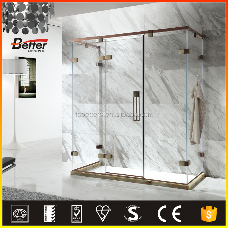 High Quality curved glass corner shower enclosures