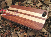 Rose Wood and Maple Wood Mobile Phone Case For Iphone5 with Plastic Frame