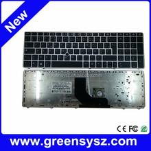 Original new FR/French keyboard for HP EliteBook 8560p 8560B 6560b laptop with stickpoint silver frame