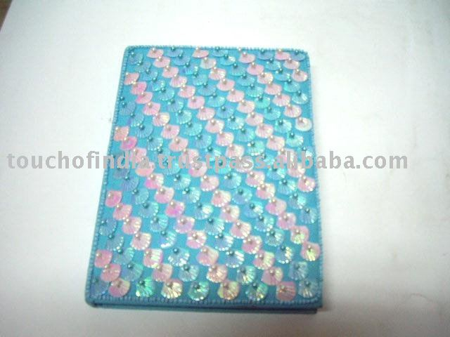 Embellished Sea Shell Beaded Embroided Note Book