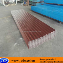 corrugated red color galvanized iron sheet for roof tile
