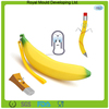 Fashion banana shaped rubber silicone children coin purse