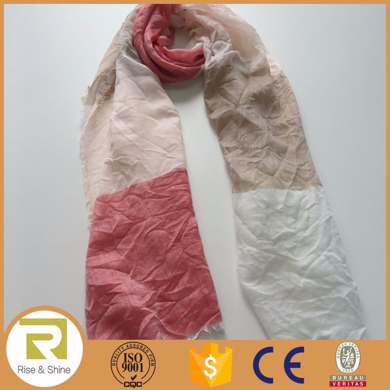Wholesale woven fringed viscose scarve