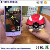 Hot Portable Pokeball Charger 10000mA Pokemon Go Power Bank with LED Light