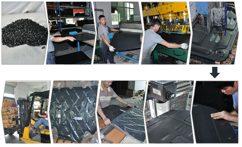 Alloy steel material engine underbody protection plates