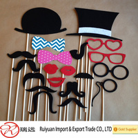 Mustache on a stick photo booth props fun for wedding and parties