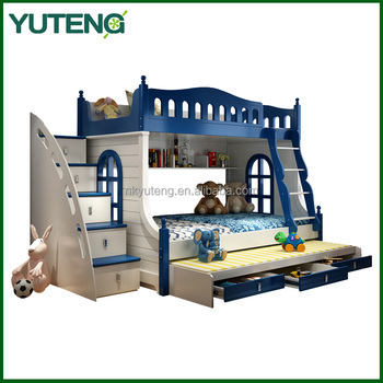 Good quality wooden bunk bed kids bed room