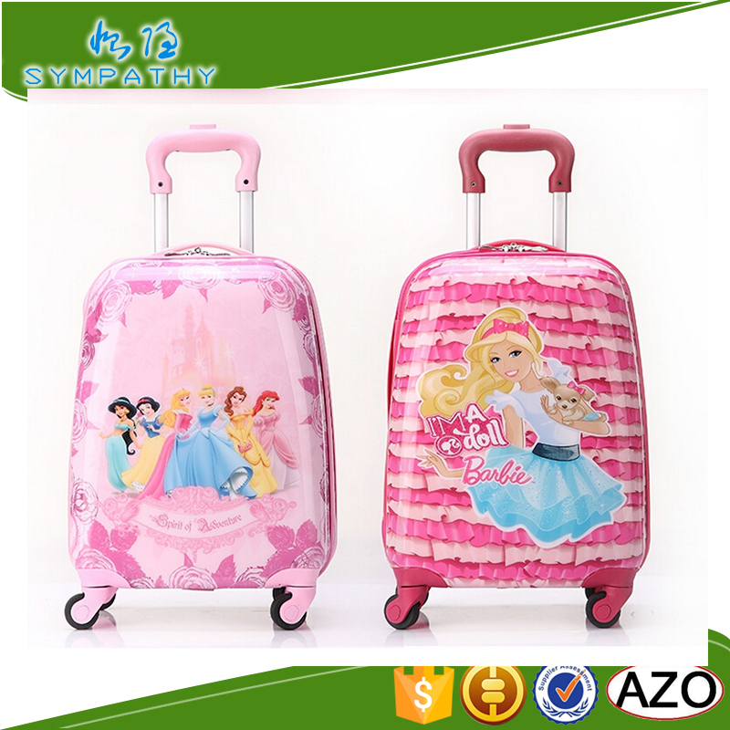 school bag cartoon characters luggage children suitcase