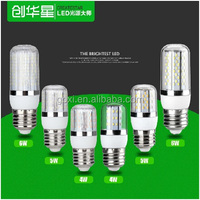 Ip65 360 degree energy saving 4W 5W 6W led corn bulb with transparent strip cover