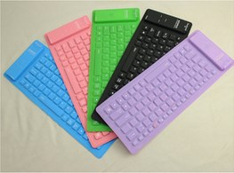 Silicon rubber bluetooth keyboard for IPAD PAD PS3 Smart Phones PC