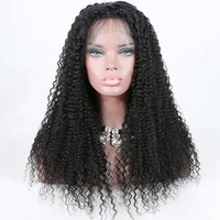 Factory Wholesale Price Chinese Virgin Unprocessed hair Kinky Curl Lace Front Wigs for black women