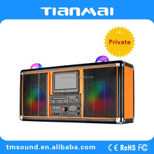 Popular portable rechargeable dj speaker with display (A-598)