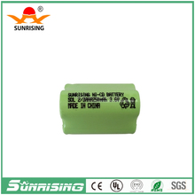 3.6v Nicd 2/3AAA 250mah rechargeable battery pack