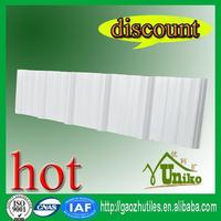 clear soft soundproof pvc corrugated roof in printing and dyeing plant